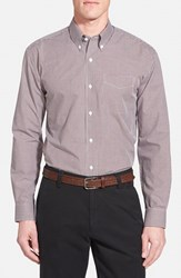 Men's Cutter And Buck 'Epic Easy Care' Classic Fit Wrinkle Free Gingham Sport Shirt Bordeaux
