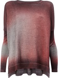 Avant Toi Washed Effect Knitted Top Red