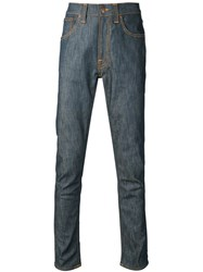 Nudie Jeans Co 'Lean Dean Dry Iron' Tapered Jeans Blue