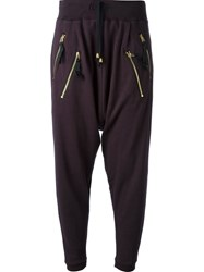 Unconditional Zip Detail Track Pants Pink And Purple