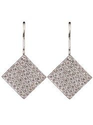 Irene Neuwirth Small Diamond Shaped Earrings Metallic