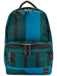 Marni Striped Backpack Polyamide Polyester Green