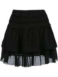 Etoile Isabel Marant Ruffled Layered Skirt Black