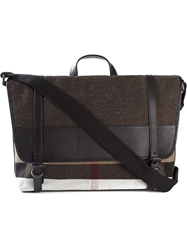 Burberry Canvas Check Messenger Bag Nude And Neutrals