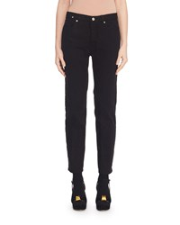 Dries Van Noten Mid Rise Straight Leg Jeans Black
