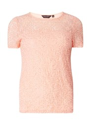 Dorothy Perkins Pink Sequin Lace T Shirt