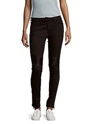 Sandro Zippered Five Pocket Jeans Black