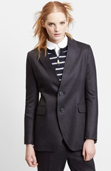 Julien David Double Knit Wool Jersey Jacket Black