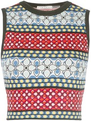 Alice Olivia Knitted Vest Multicolour