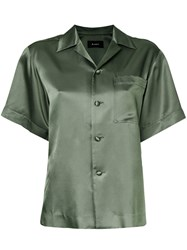 G.V.G.V. Satin Shortsleeved Shirt Green
