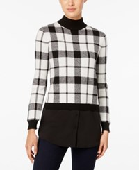 Styleandco. Style Co. Plaid Layered Look Sweater Only At Macy's Deep Black Combo