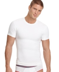 2Xist 2 X Ist Men's Undewear Body Shaper Shape Form Slimming Crew Neck T Shirt White