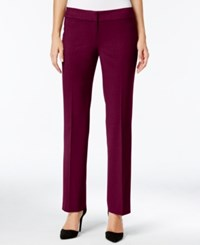 Nine West Taylor Stretch Straight Leg Trousers Wine