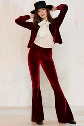 Nasty Gal Sugarhigh Lovestoned Foxy Lady Velvet Flare Pants