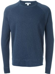 James Perse Classic Sweatshirt Blue