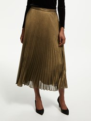 Bruce By Bruce Oldfield Pleated Skirt Metallic Bronze