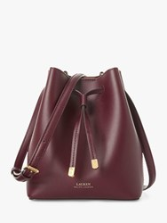 Ralph Lauren Dryden Debby Leather Bucket Bag Bordeaux Field Brown