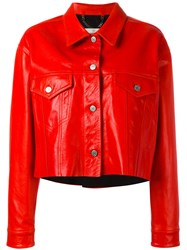 Golden Goose Deluxe Brand Cropped Jacket Red