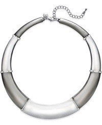 Alfani Two Tone Polished Rectangle Collar Necklace Only At Macy's