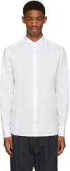Kolor White Embroidered Cuff Shirt