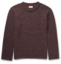 Nudie Jeans Vladimir Merino Wool Blend Sweater Burgundy