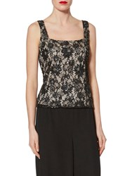 Gina Bacconi Sequin Lace Cami Black Gold