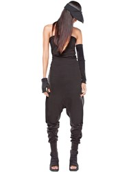 Demobaza Baggy Cotton Jersey Strapless Jumpsuit
