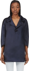 Dsquared Navy Oversized Silk Tunic
