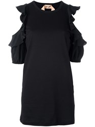 N 21 No21 Cut Out Ruffle Blouse Black