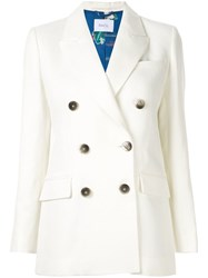 Racil Classic Double Breasted Blazer White