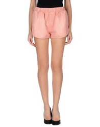 People Denim Shorts Pastel Pink
