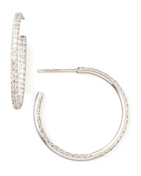 25Mm White Gold Diamond Hoop Earrings 0.8Ct Roberto Coin Red