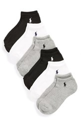 Ralph Lauren Women's Sport 6 Pack Low Cut Socks Black Assorted
