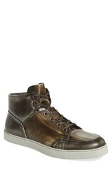 Vince Camuto Men's Gidean High Top Sneaker Osso Leather