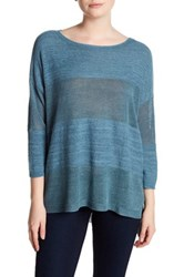 Cullen Shadow Stripe Boxy Shirt Blue