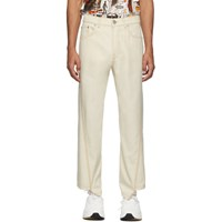 Lanvin Off White Twisted Denim Jeans
