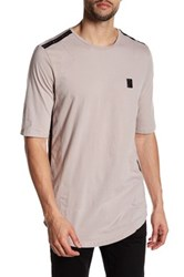 Religion Short Sleeve Embroidered Open Knit Tee Pink