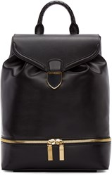 Alexander Mcqueen Black Leather Large Backpack