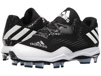 Adidas Poweralley 4 Tpu Black White Silver Metallic Men's Cleated Shoes