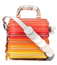 Anya Hindmarch Circle Six Zip Stack Leather Shoulder Bag Multicoloured
