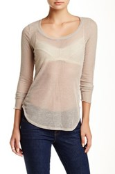 Ontwelfth Long Sleeve Semi Sheer Rib Layering Tee