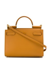 Dolce And Gabbana Small Sicily Leather Satchel Neutrals