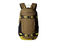 Burton Day Hiker Pack 25L Olive Drab Cotton Cordura Day Pack Bags Brown