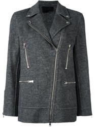 Alexander Wang Moto Jacket Grey