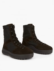 Yeezy Onyx Suede Military Boots Black