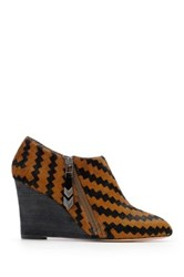 Matt Bernson Kismet Genuine Calf Hair Wedge Bootie Brown