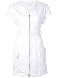 A.L.C. Short Sleeve Utility Dress White