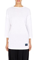 Regulation Yohji Yamamoto Women's Jersey Dolman Sleeve T Shirt White