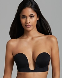 Fashion Forms Strapless Bra Backless U Plunge P6536 Black