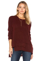 Wilt Mock Layered Sweater Burgundy